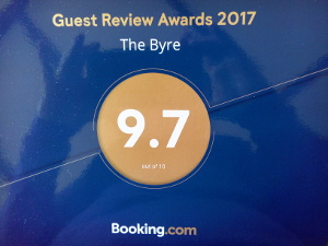 Guest reviewers on Booking.com have give the Byre 9.7 out of 10